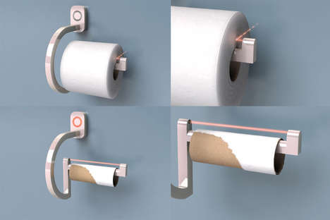 Flashing Paper Holders - RollScout Prepares You For Low Toilet Paper Stock