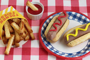 These Cake French Fries and Ice Cream Hot Dogs are Perfect for Summer