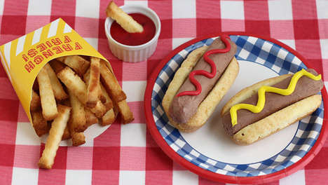 Chilly Fast Food Desserts - These Cake French Fries and Ice Cream Hot Dogs are Perfect for Summer