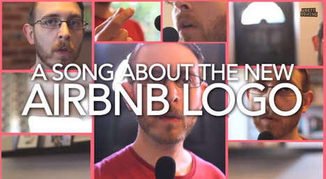 Suggestive Logo Songs - Brett Domino Expresses His Feelings on the New Airbnb Logo in Song