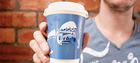 Gum-Filled Coffee Sleeves - These Coffee Cup Sleeves by Orbit Mint Gum Stop Bad Breath