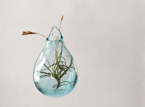 Handmade Hanging Planters - This Air Plant Vase From Avolie Glass is Both Stunning and Practical