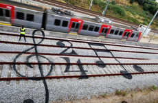 Railroad Street Art - Artur Bordalo Turns Train Tracks into Works of Cultural Street Art