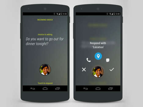 Call-Simulating Apps - The Knock Android App Replicates a Call Every Time You Send a Text