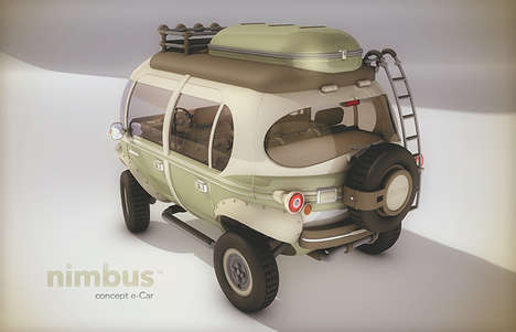Cartoonish Mini Buses - This Versatile Concept E-Car Has a Range of Technological Features