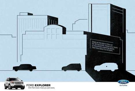 Parking Illusion Ads - This Ford Ad Demonstrates the Wonders of Parking Technology