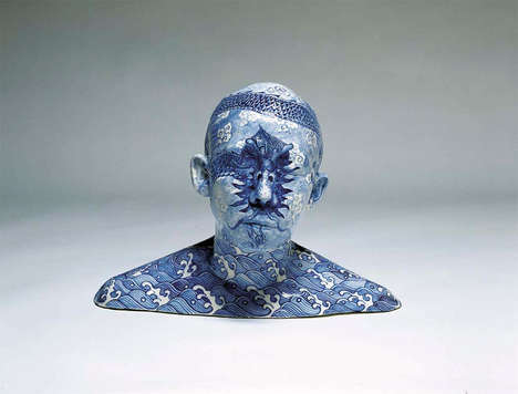 Artful Porcelain Busts - Ah Xian Has Created Painted Busts Using White Porcelain