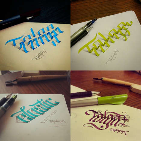 Peeling Calligraphic Paintings - Tolga Girgin is a Graphic Designer Who Plays with Calligraphy