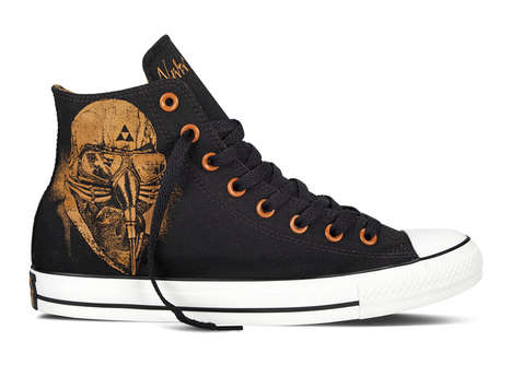 Rock Star-Worthy Shoes - The Converse Black Sabbath Collection Has Album Art from Metal