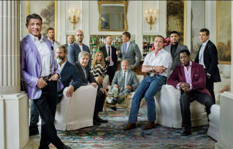 Action Hero Editorials - The Expendables Photos for Vanity Fair are Refreshingly Dapper