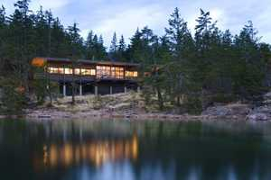 The Cortes Island House is Precariously Located