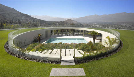 Panoramic Andes Abodes - This Hillside House Boasts a Unique Circular Patio with Amazing Views