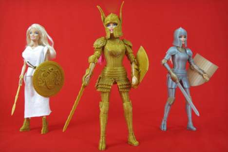 3D-Printed Barbie Armor (UPDATE) - The Faire Play Battle Set by Jim Rodda is Made Up of Three Suits