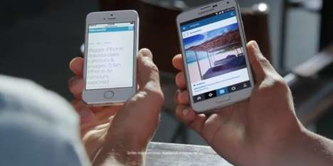 Smartphone Mocking Ads - Samsung Throws Shade On Apple for Having a Small Screen