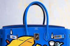 Collaborative Cartoon Fashion - Disney Designer Fashion Extends to Cinderella-Printed Birkin Bags
