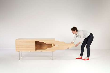 Abstract Modular Furniture - The Explosion Cabinet by Sebastian Errazuriz Abstractly Opens Up