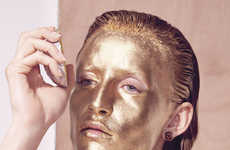 Glam Metallic Editorials - The Le Monde M Photoshoot is Captured by Photographer Carlotta Manaigo