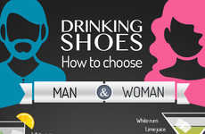 Party Footwear Infographics - This Infographic Breaks Down the Perfect Shoes Based on Your Drink