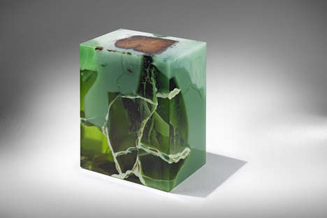 Jade-Encased Trees - Nucleo Experiments with Aged Oak and Precious Stone