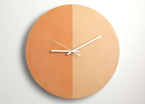 Tanned Leather Clocks - Lina Patsiou