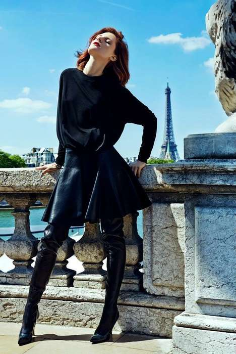 Fierce Parisian Fashion - The Harper's Bazaar Poland Editorial Stars Model Maria Loks