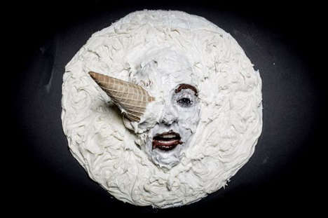 Buttercream Moon Movies - Henry Hargreaves Recreates a Moon Landing with Buttercream