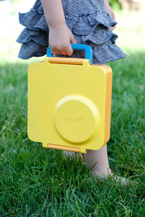 Healthy Lunch Boxes - The OmieBox Holds Hot and Cold Food in One Colorful Container