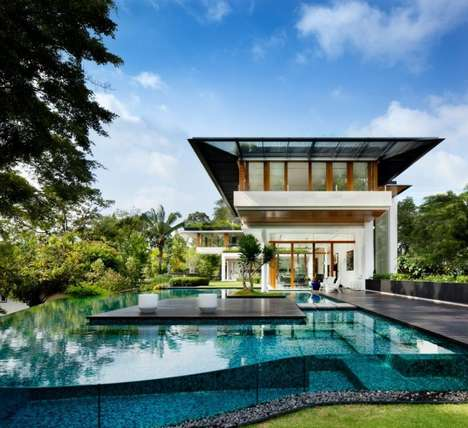 Opulent Generational Mansions - This Luxury Estate Home Accommodates Co-Habiting Generations
