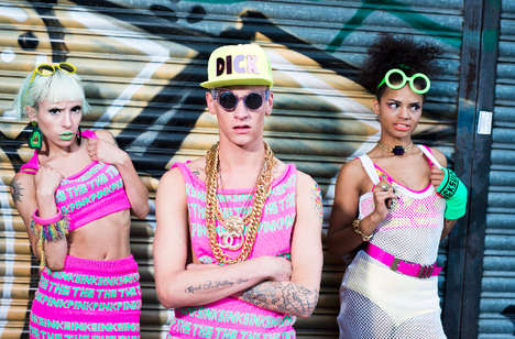 55 Raver-Themed Fashion Examples - From Nostalgic Party Editorials to Club Kid Couture Styles