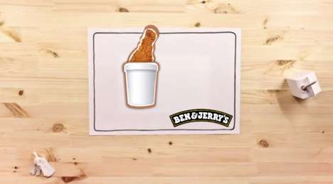 Generous Foodsharing Campaigns - Ben & Jerry's Food Waste Campaign Shares What You Don't Eat