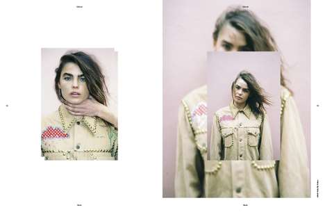 Superimposed Style Editorials - The SRC783 Magazine Bambi Northwood Photoshoot Features Mixed Images