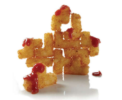 Tetris Potato Puzzles - These Puzzle Potatoes are Designed to Look Like the Tetris Video Game