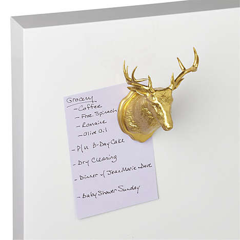 Gilded Fridge Decor - This Taxidermy Magnet from CB2 is Inspired by Nature