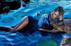 The Candice Swanepoel Forum Ads are Provocative and Psychedelic