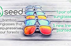 Sustainable Bamboo Sunglasses - Every Purchase of This Eyewear Plants Five New Trees