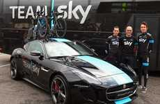 Luxury Cyclist Support Vehicles - The Jaguar F-TYPE Team Sky is Too Fast for the Tour De France
