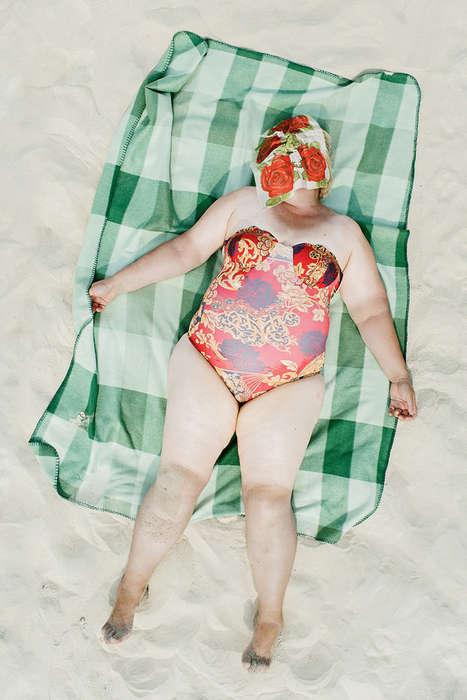 Slumbering Sunbather Photography - Tadao Cern Photographs Unaware Sunbathers for His Latest Series