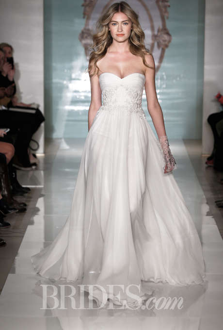 Ethereal Sheath Wedding Dresses - The Latest Reem Acra Collection is Fit for a Fairy Princess