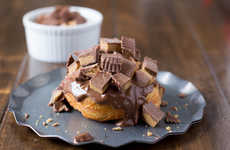 Candied Chocolate Donuts - These Peanut Butter Cup Donuts Mix Sweet and Savory Flavors