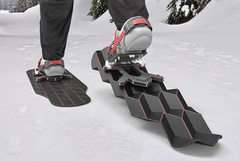 Futuristic Transforming Snowshoes - Flux by Eric Brunt Changes Shape and Size with Every Step
