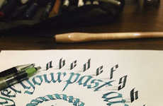 Tolga Girgin's Calligraphy Typography Literally Pops Off the Page