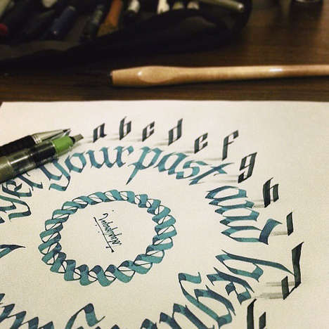 3D Calligraphy Illustrations - Tolga Girgin