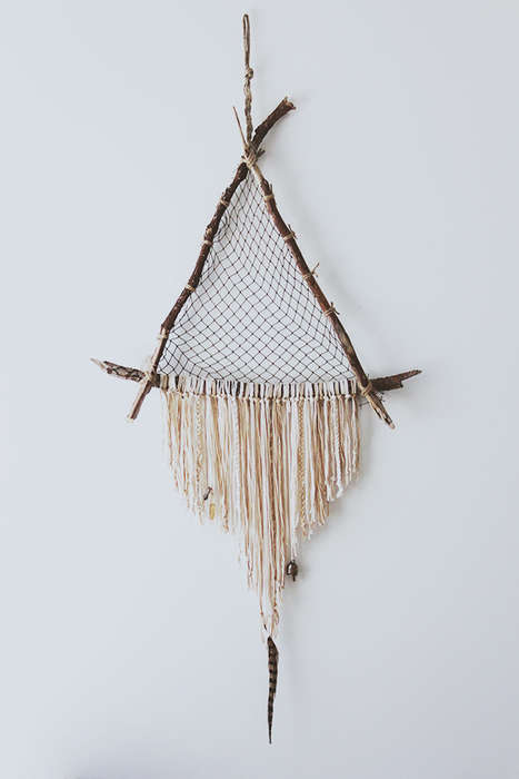 Triangular Driftwood Decorations - This Crystal-Carrying DIY Dreamcatcher Comes From Free People