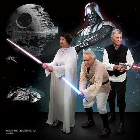 Photoshopped Iconic Film Scenes - Senior Living Communities Recreate Pop Culture with Members