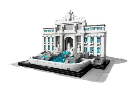 LEGO Landmark Sets - The LEGO Architecture Trevi Fountain Teaches About Italian Design