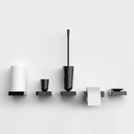 Grayscale Bathroom Gadgets - Brad Ascalon Has Created Bathroom Accessories Called