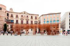 Porous Bamboo Pavilions - Urbanus Architects Build on the Theme of Identity in Barcelona