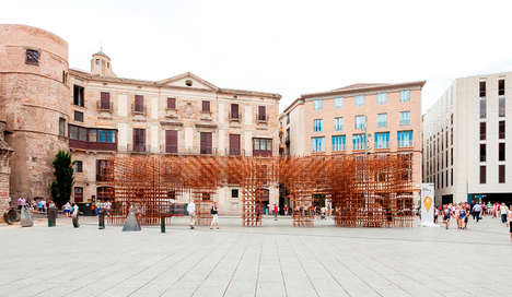 Porous Bamboo Pavilions - Urbanus Architects Build on the Theme of Identity in Barcelona