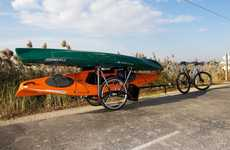 The Brouhaha Bike Trailer Enables Cyclists to Tow Heavy Loads