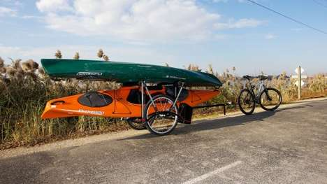 Heavyweight Bike Trailers - The Brouhaha Bike Trailer Enables Cyclists to Tow Heavy Loads